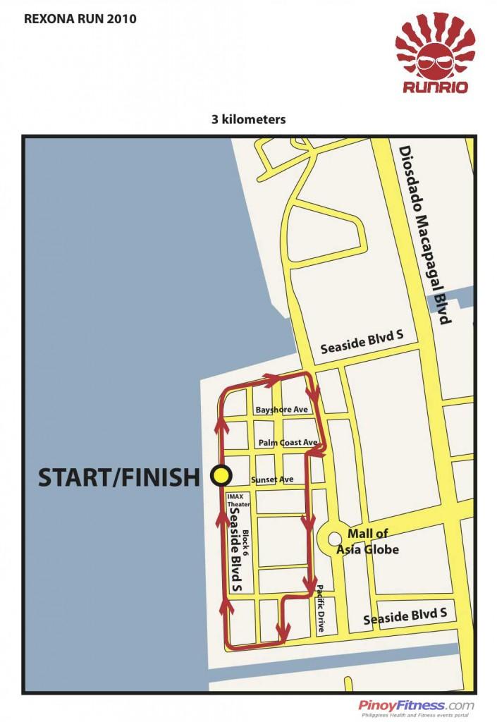 Rexona Run 2010 3K - Race Map
