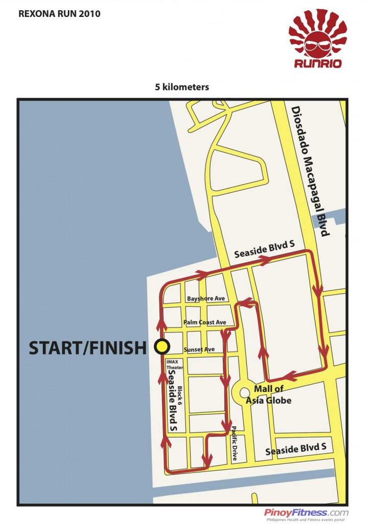 Rexona Run 2010 5K - Race Map