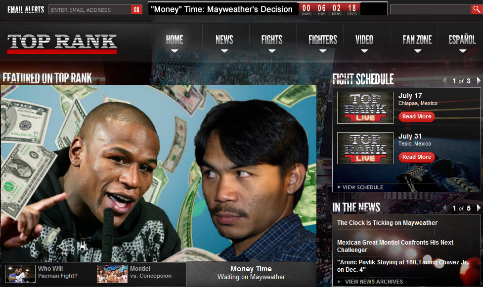 Top Rank Pacquiao - Mayweather Countdown