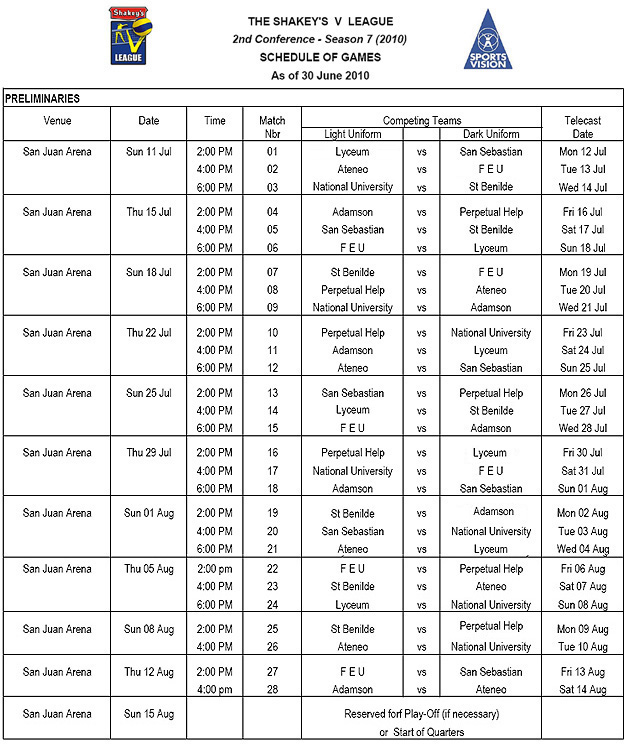 shakeys-v-league-season-7-schedule