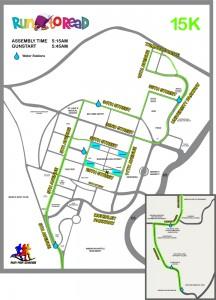 Run to Read 2010 15K - Race Map