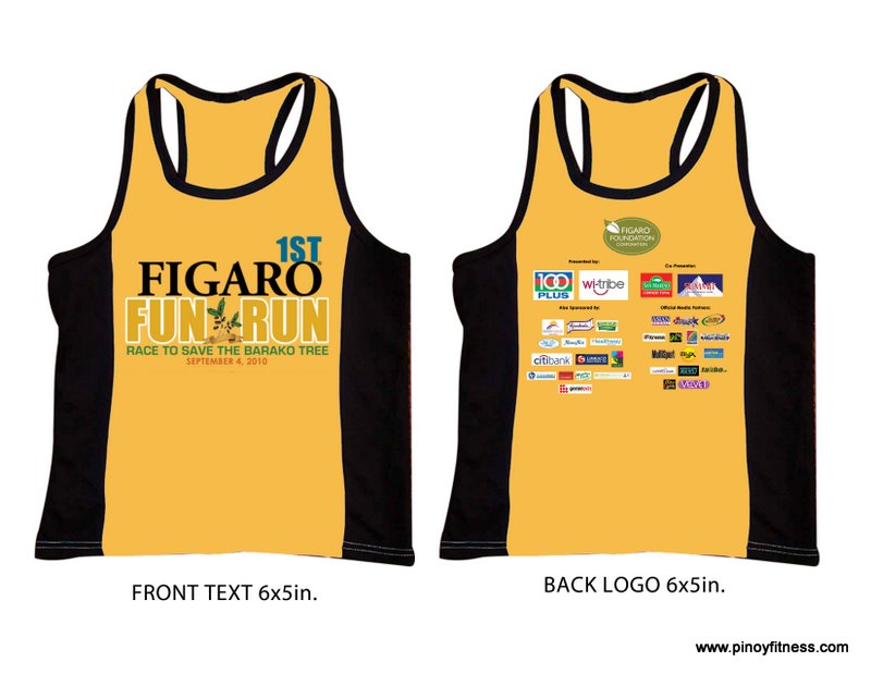 FIGARO RUN SINGLET DESIGN
