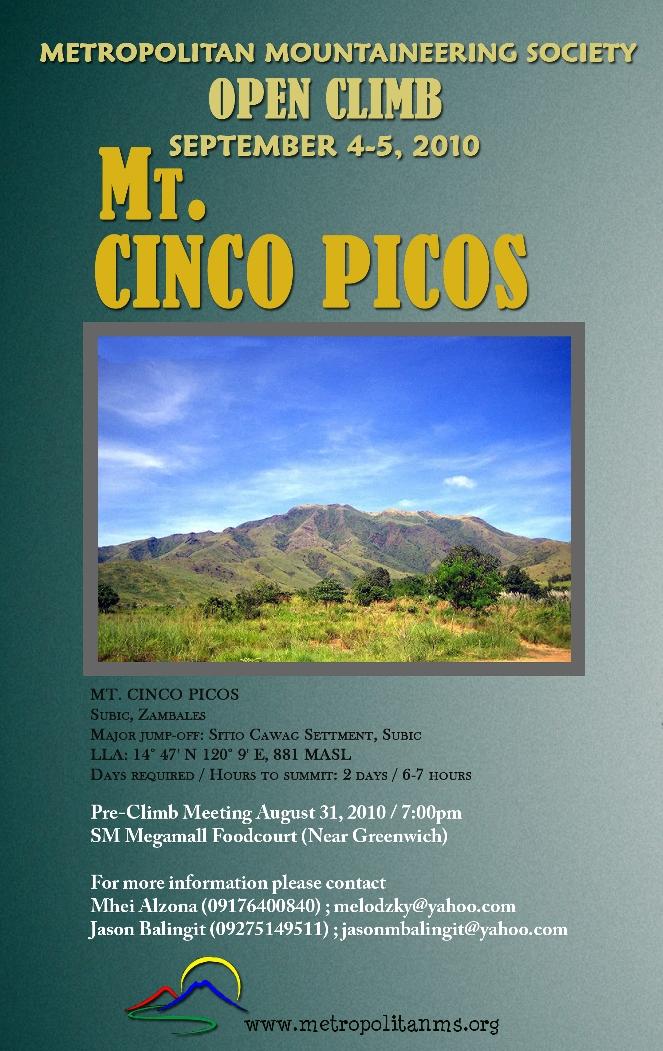 MMS_4th Open Climb_Mt Cinco Picos_2010