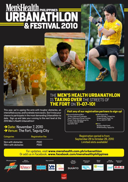 Men's Health Urbanathlon 2010 Race Maps