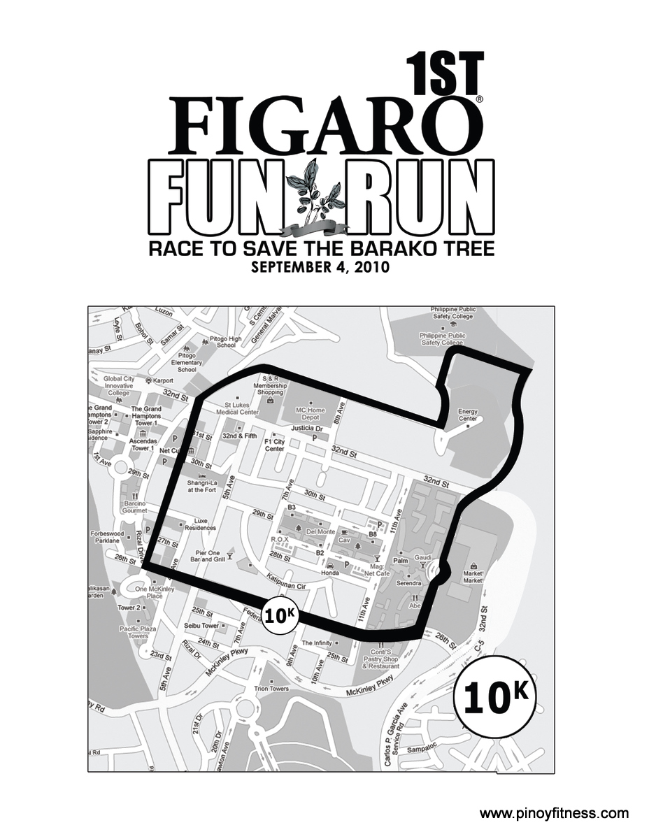 Figaro Fun Run 2010 - 10K Race Map