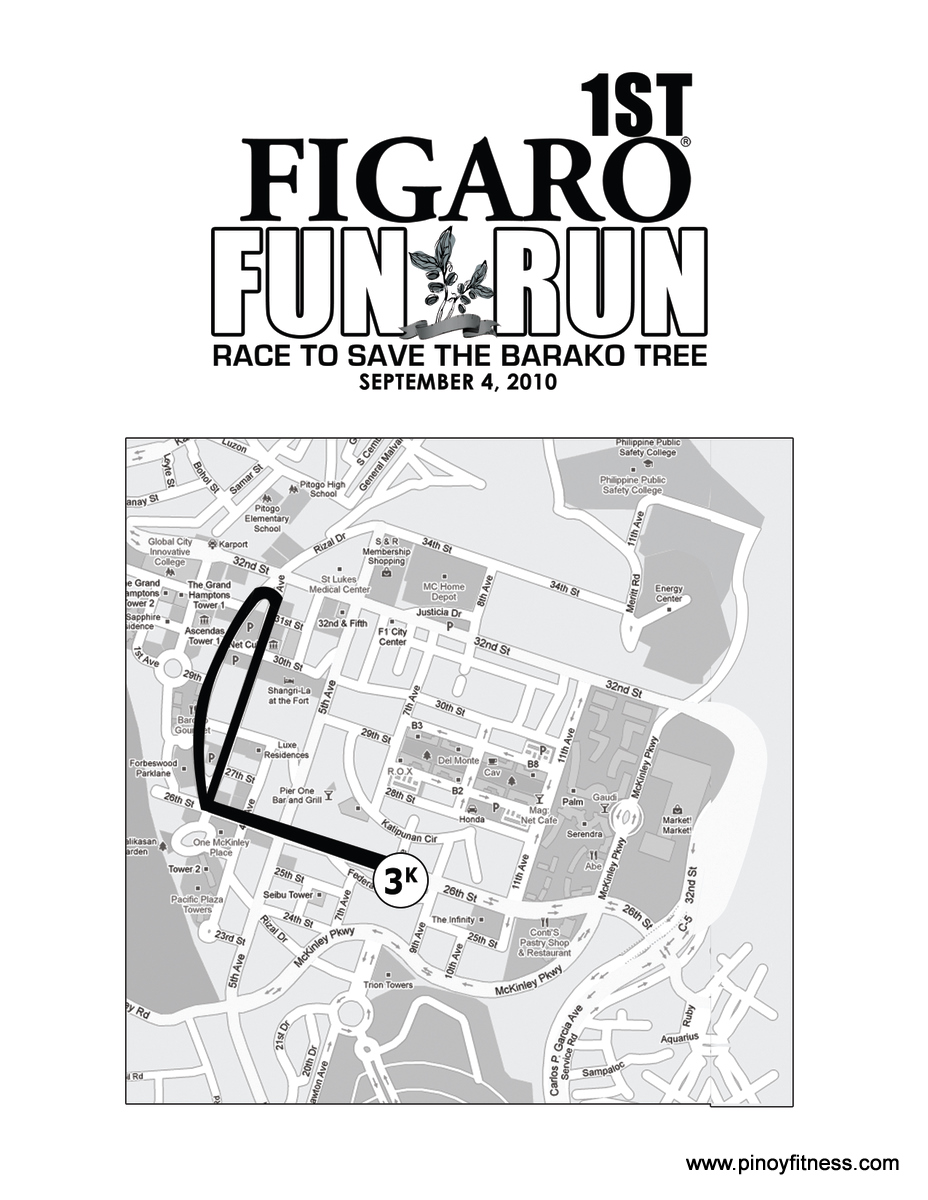 Figaro Fun Run 2010 - 3K Race Map