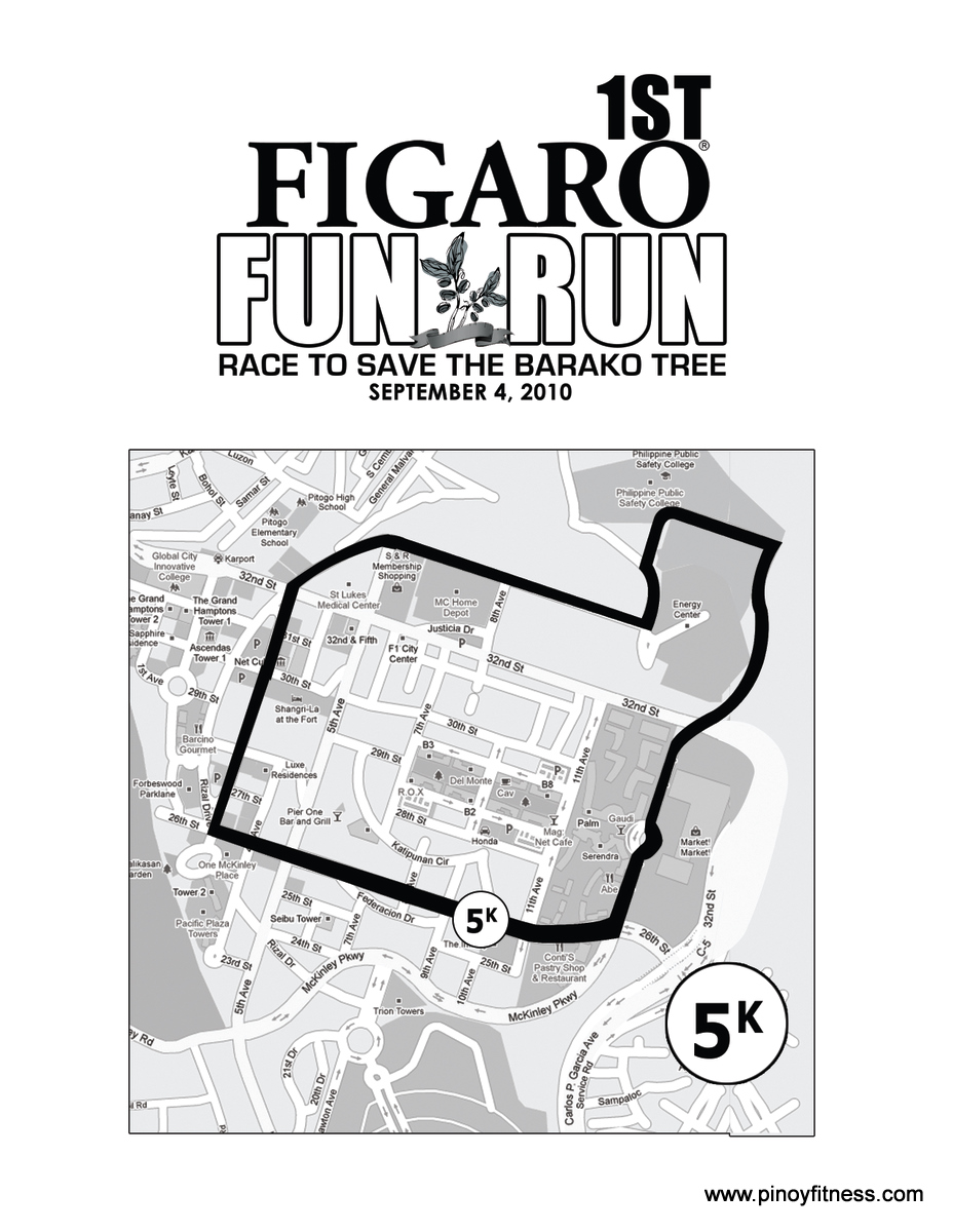 Figaro Fun Run 2010 - 5K Race Map