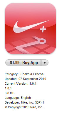 nike+ GPS iphone app