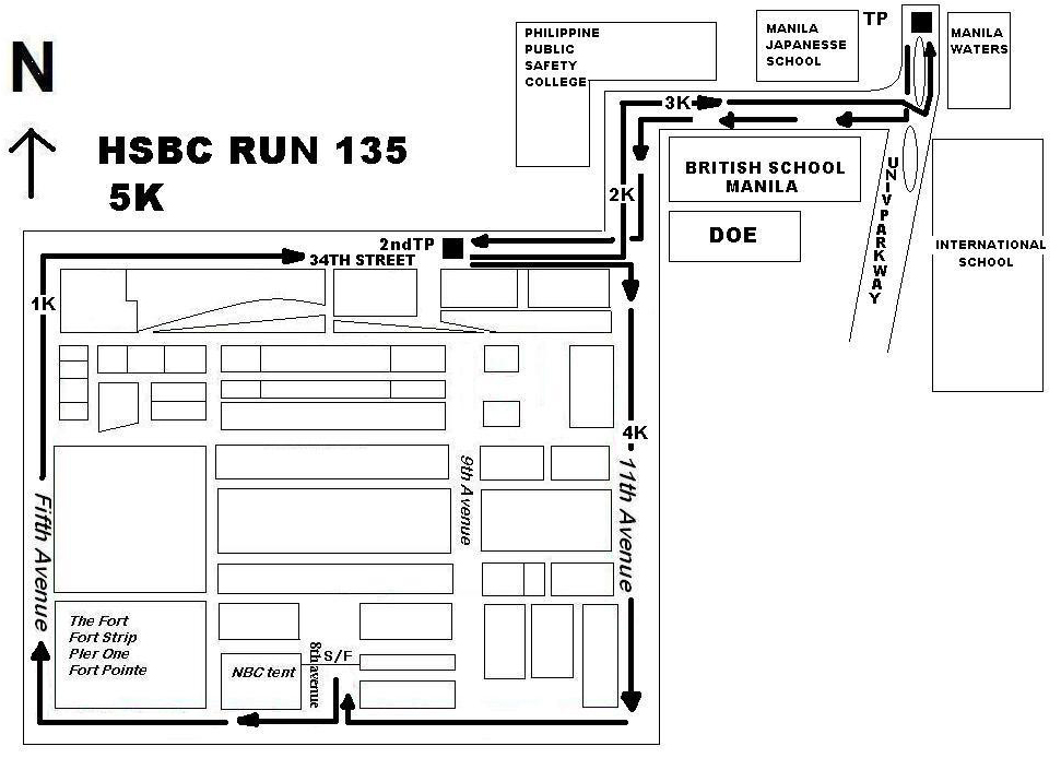 HSBC 135 RUN 5K MAP