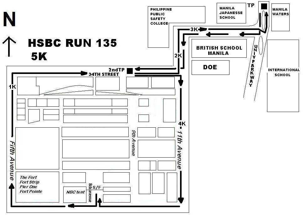 HSBC 135 RUN 5K MAP