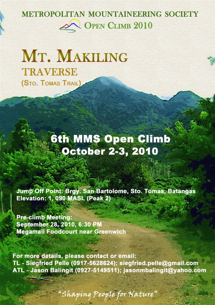 Mt. Makiling 2010 Poster