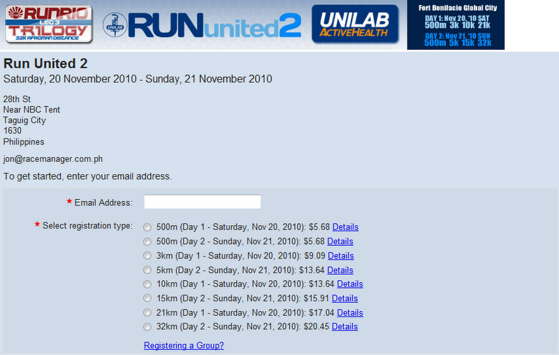 Run United 2 - Registration