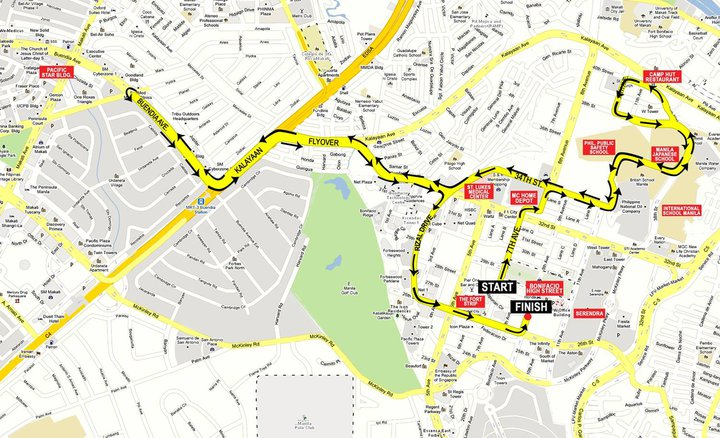 adidas king of the road 10k race map