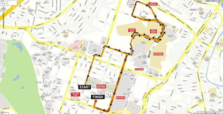 adidas king of the road 5k race map