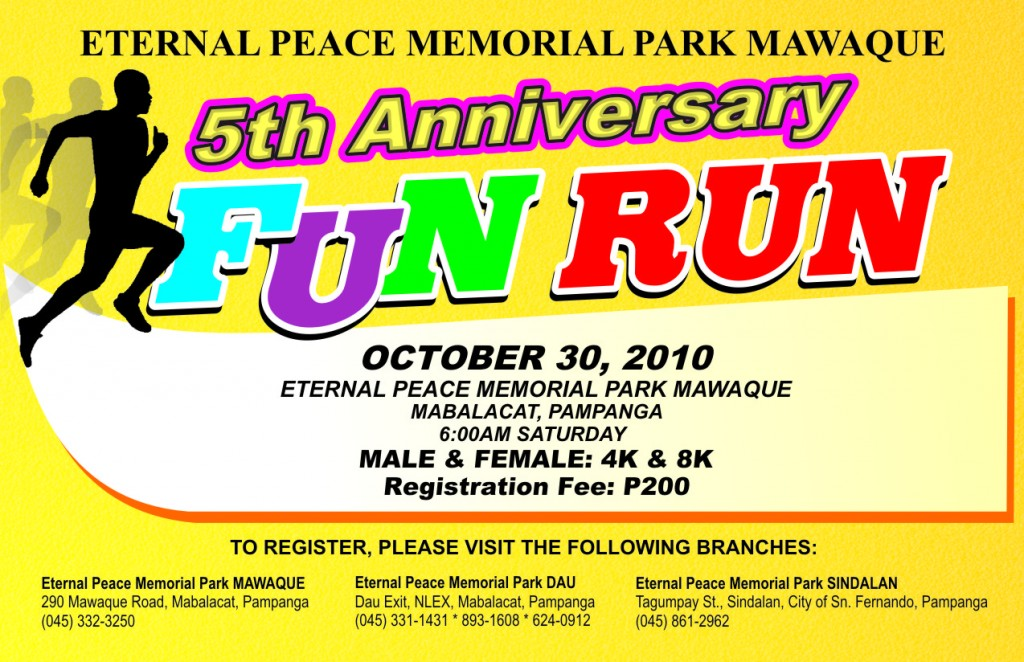 eternal peace FUN RUN