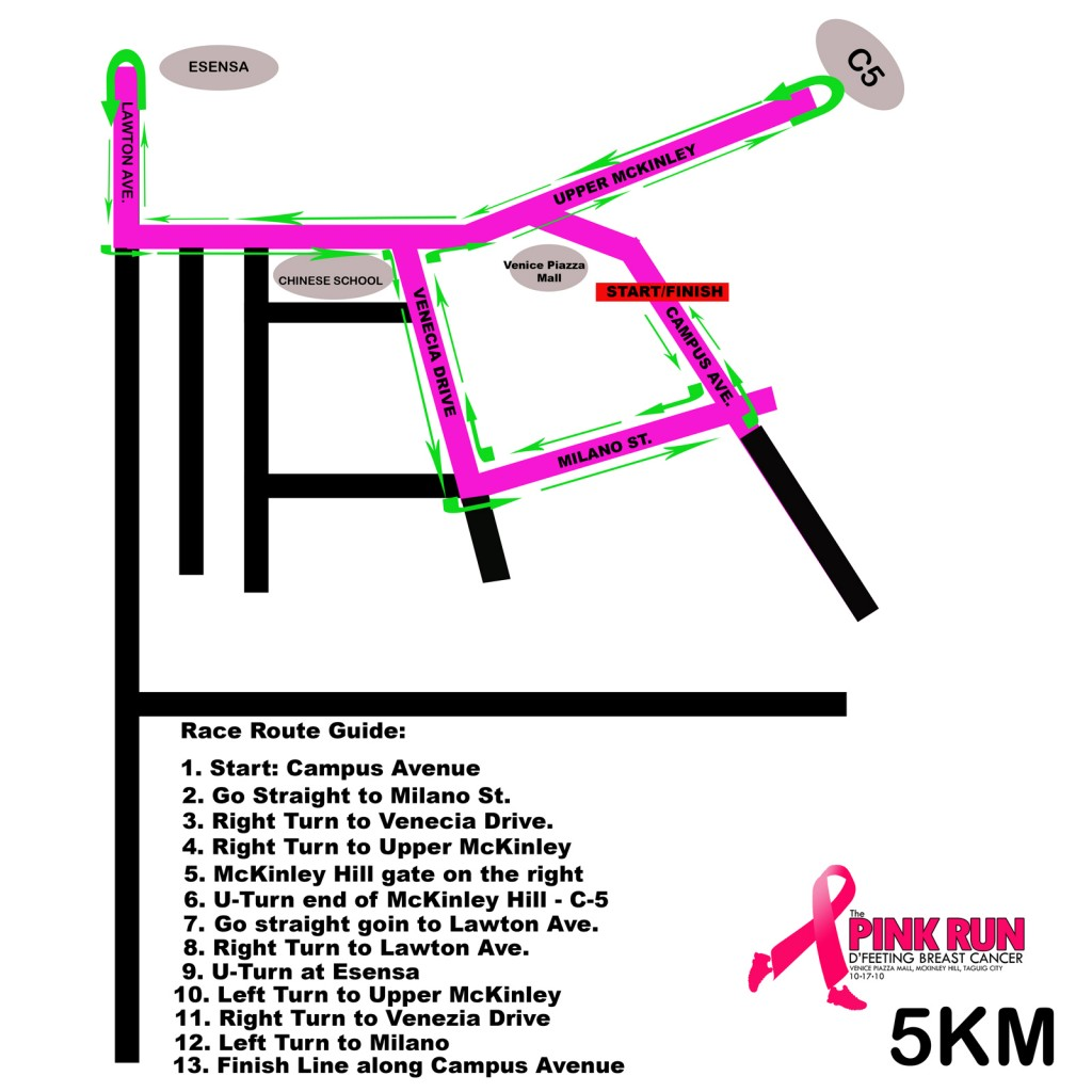 Pink Run 2010 - 5K Race Map