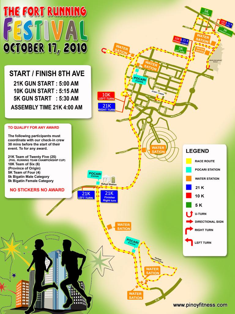 running festival 2010 race map