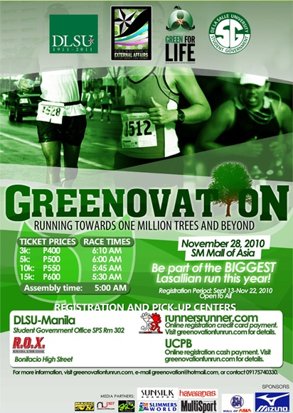 Greenovation Run 2010 - Race Results