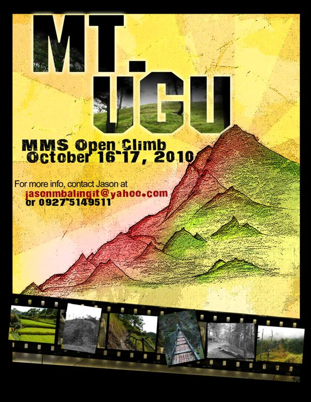 MT UGU Open Climb Poster 2010