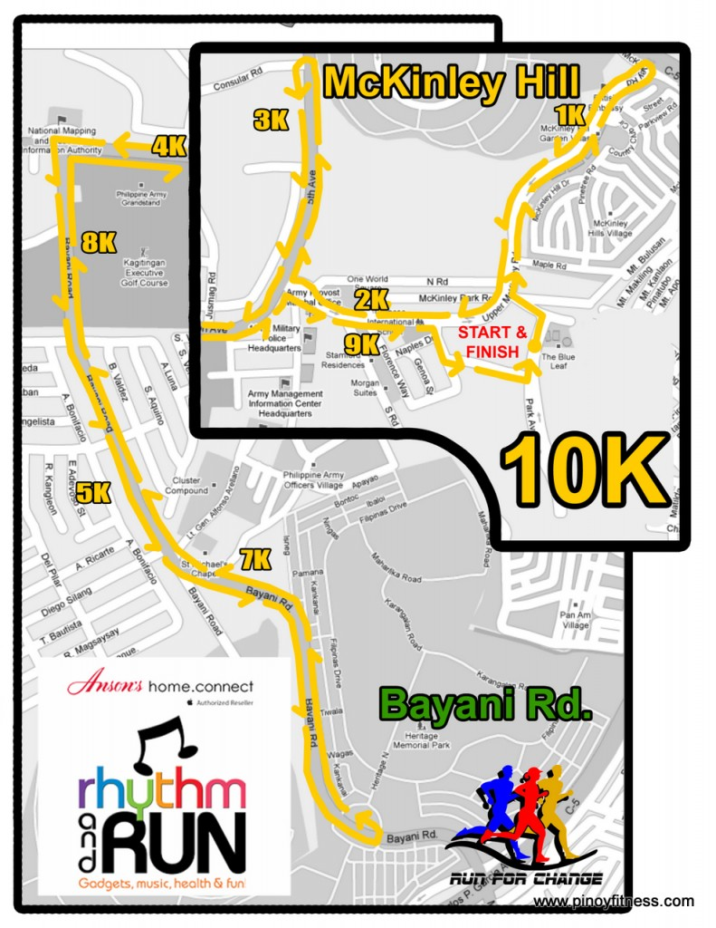 Anson's Fun Run - 10K Race Map