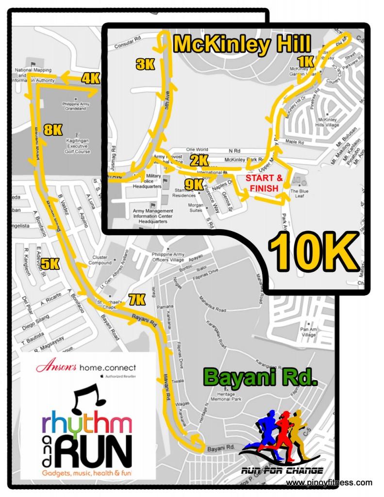 Anson's Fun Run - 10K Race Map