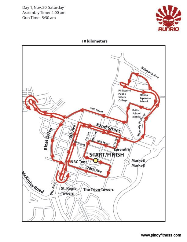 Run United 10K Race Map