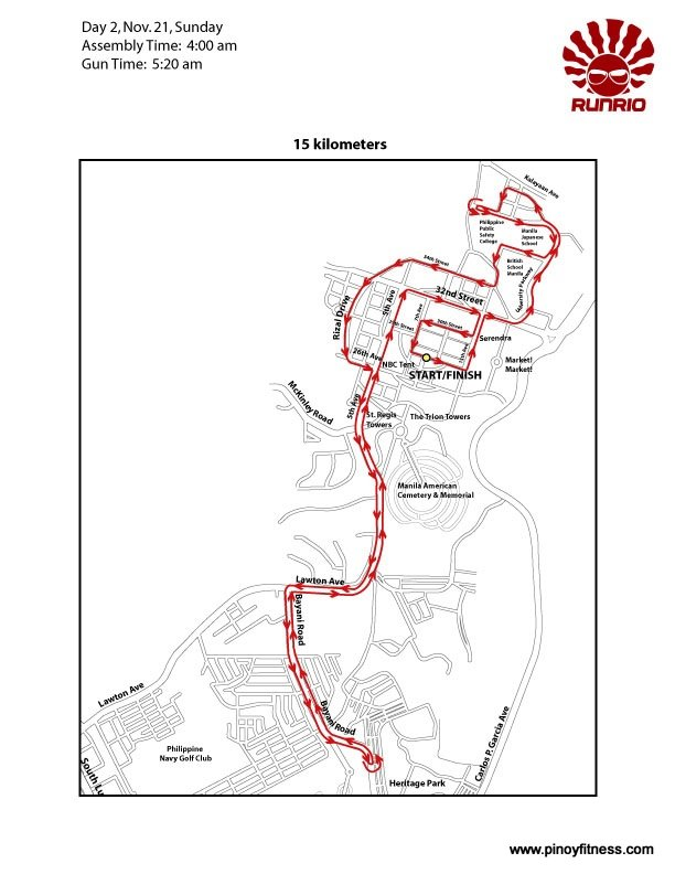 Run United 15K Race Map