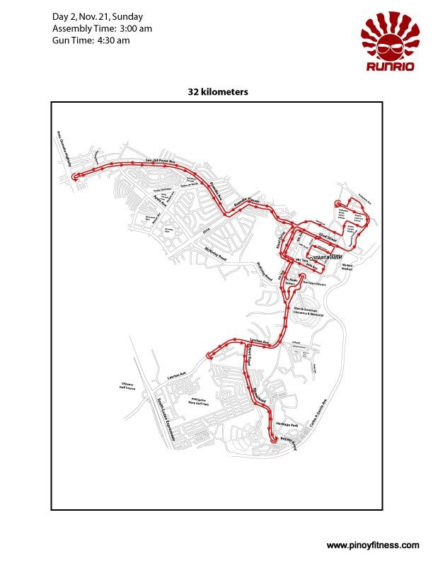 Run United 32K Race Map