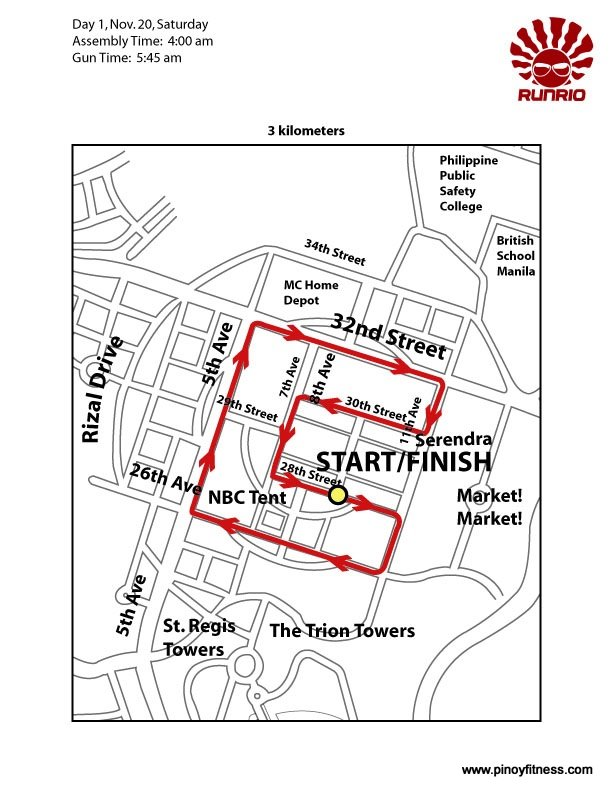 run united 3K race maps