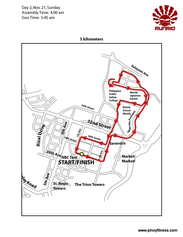 Run United 5K Race Map