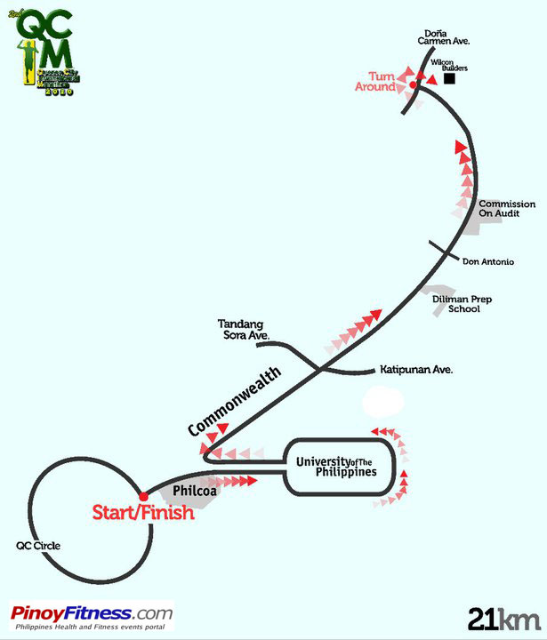 QCIM2 21K Race Map