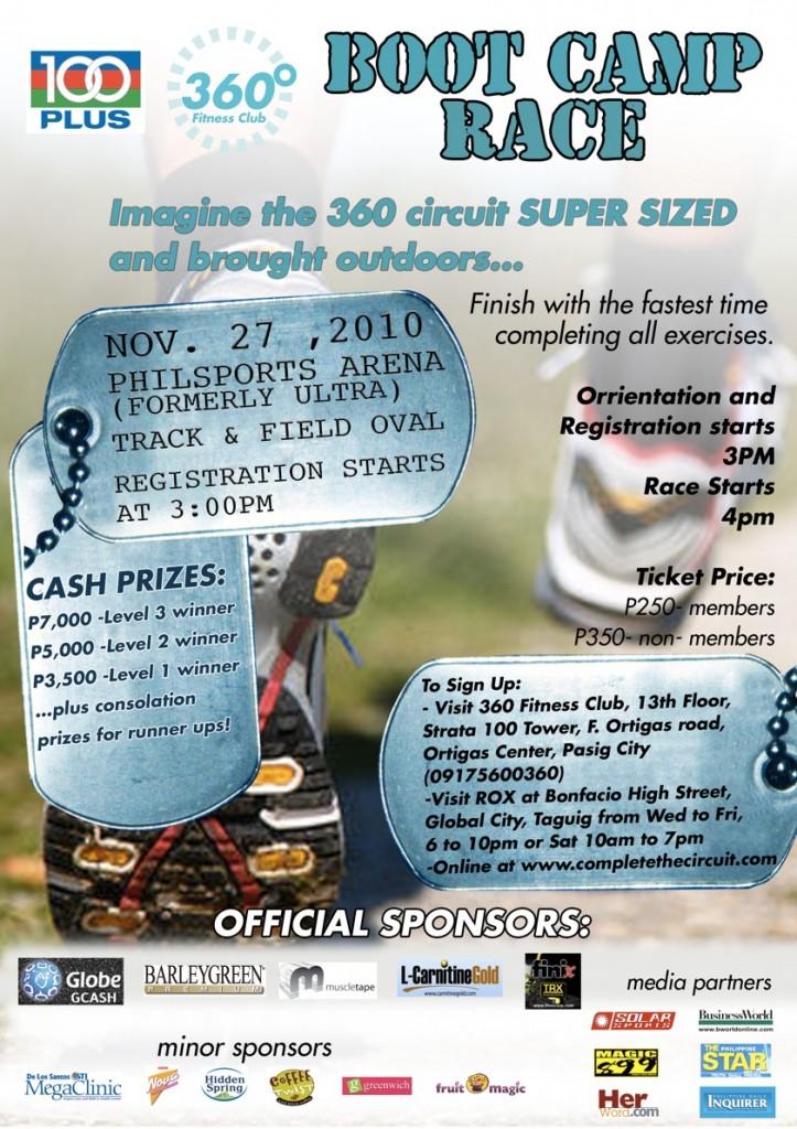 360-100 Plus Boot Camp Race