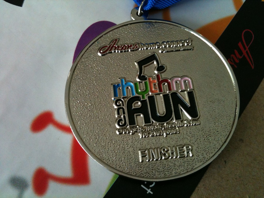 Anson's Rhythm and Run Finishers Medal