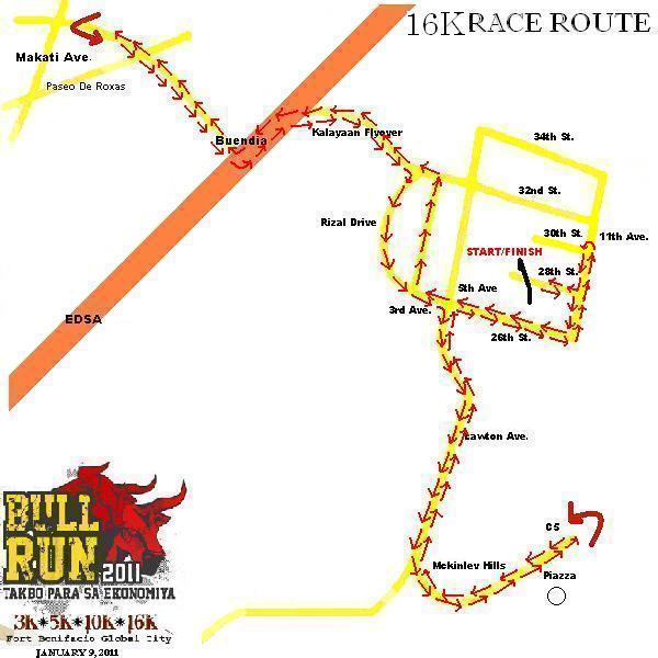 PSE BULL RUN 2011 MAP 16K