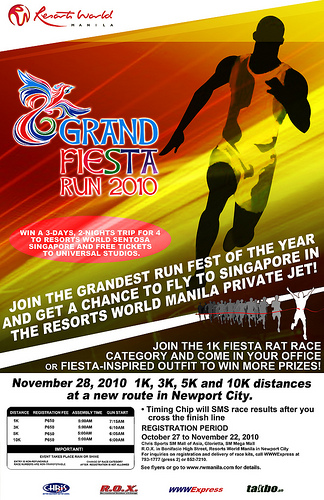 grand fiesta run manila race results and photos 2010