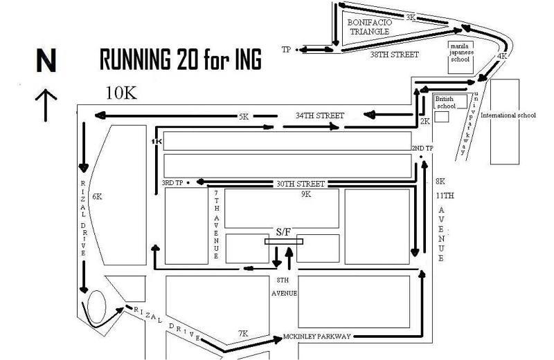 ing running 20 fun run 10k race map route