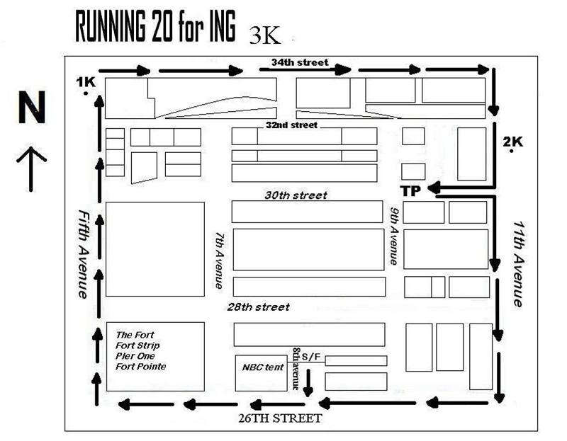 ing running 20 fun run 3k race map route