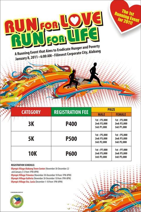 Run for Love Run for Life Singlet Design