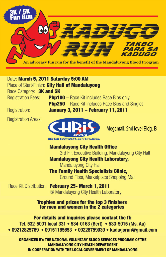 Kadugo Run 2011 Results
