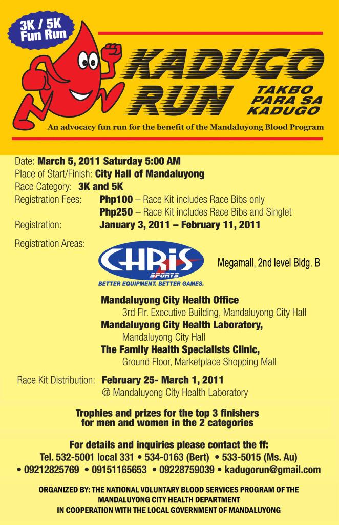 Kadugo Run 2011 Results