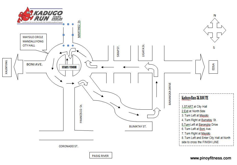 Kadugo Run 3K Route 2011 Map