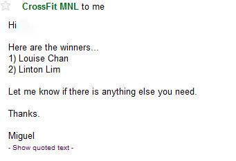 CrossfitMNL-Winners