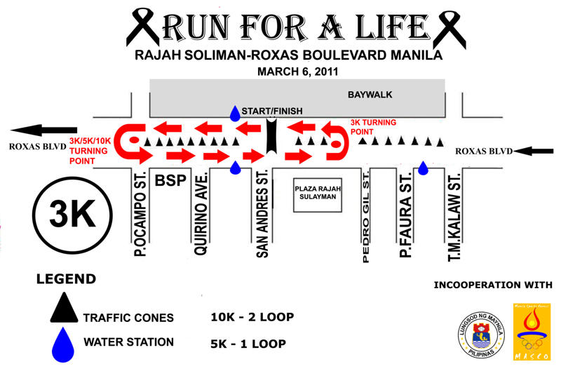 MAP 3K copy run for a life 2011