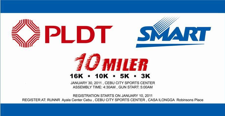 PLDT Smart 10 Miler Run Poster
