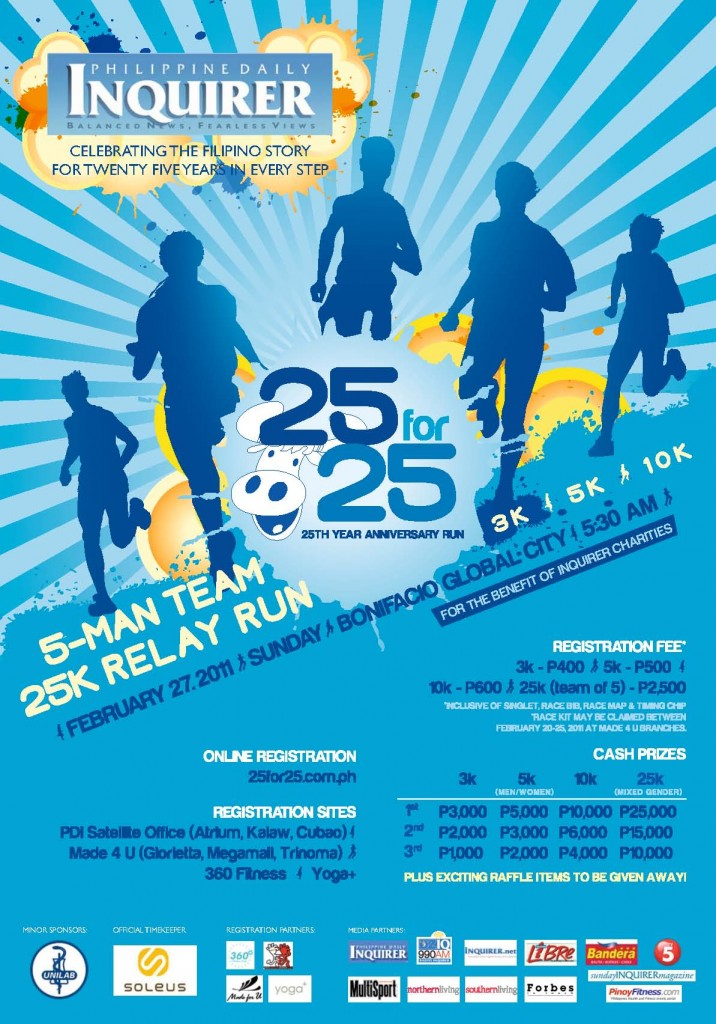 inquirer fun run 2011 poster results