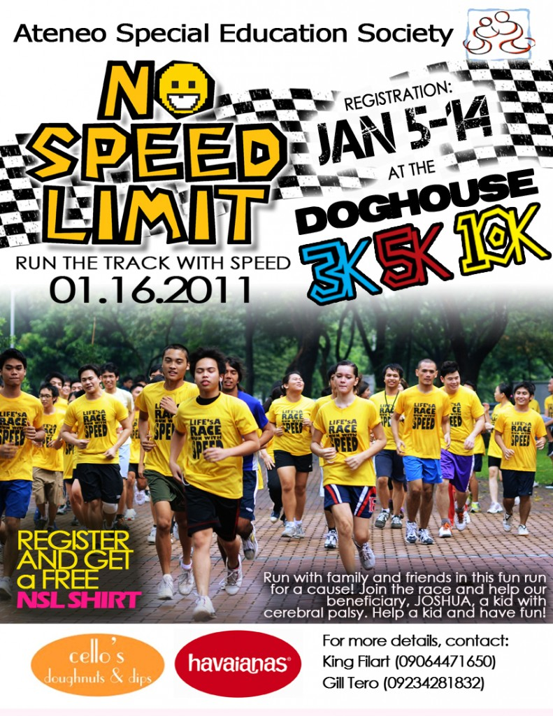 No Speed Limit Poster 2011 Run