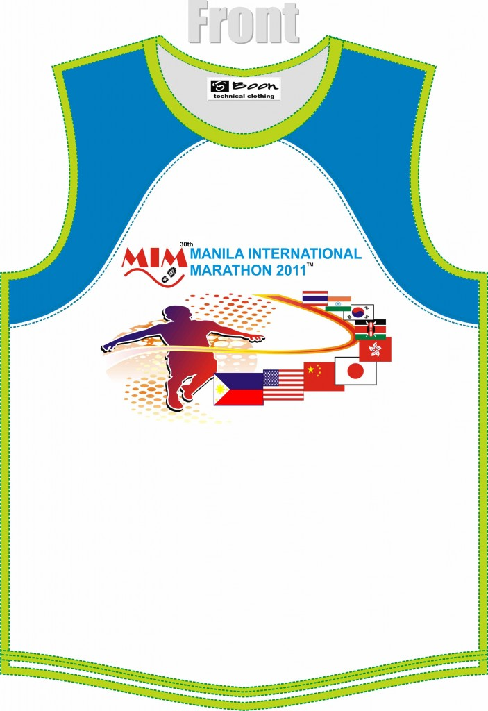 30th Manila Marathon Front Singlet