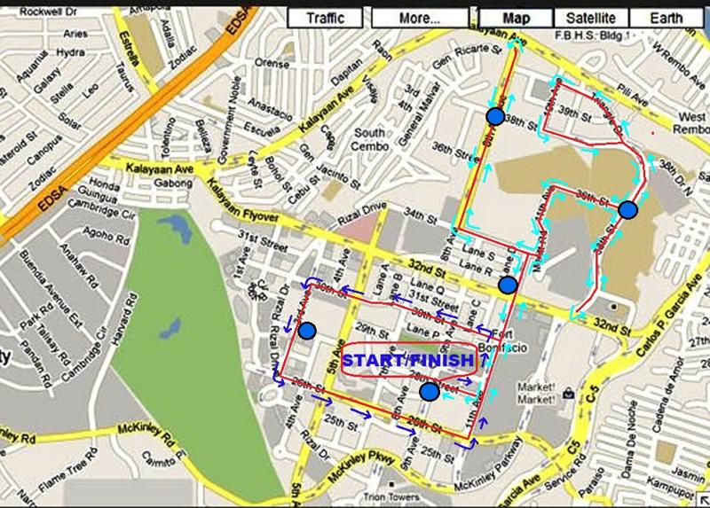 Inquirer Run 10K Race Map