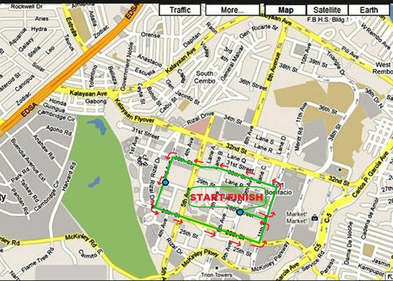 Inquirer Run 2011 - 3K Map