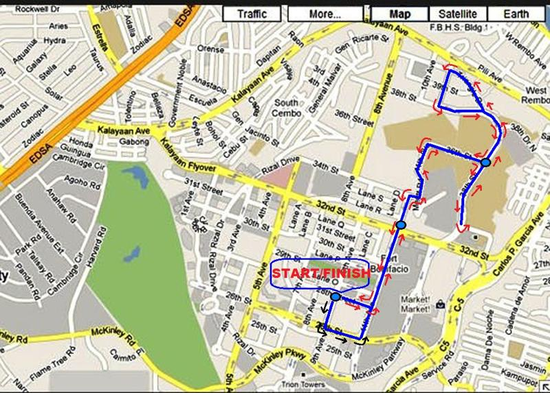 inquirer run 5k map